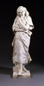 A Set of Four Italian White Marble Figures Emblematic of the Seasons - Winter, Late 19th Century