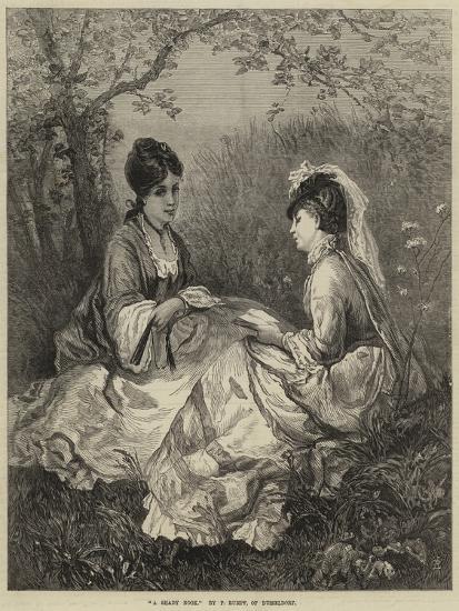 A Shady Nook--Giclee Print
