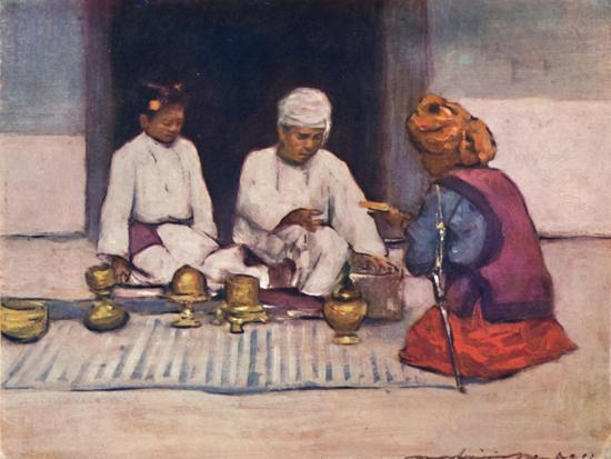 'A Shan Chief and his Wife', 1903-Mortimer L Menpes-Giclee Print