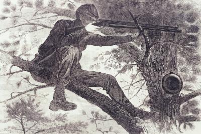 A Sharp-Shooter on Picket Duty, 1862-Winslow Homer-Giclee Print