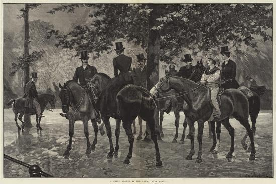 A Sharp Shower in the Row, Hyde Park-Richard Caton Woodville II-Giclee Print