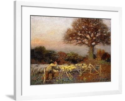 A Sheepfold, Early Morning, 1890-Sir George Clausen-Framed Giclee Print