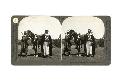 A Sheikh and His Bodyguard, Syria, 1900s--Giclee Print