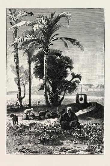 A Shepherd at Karnak, Egypt, 1879--Giclee Print