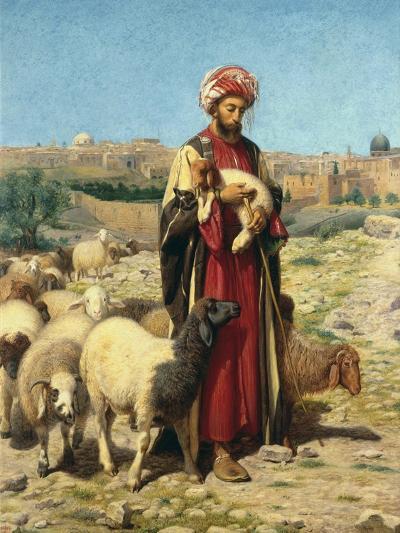 A Shepherd of Jerusalem-William J^ Webbe-Giclee Print