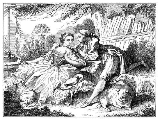 A Shepherdess-Francois Boucher-Giclee Print