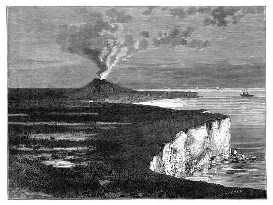 A Shield Volcano on Reunion Island, Indian Ocean, C1890--Giclee Print