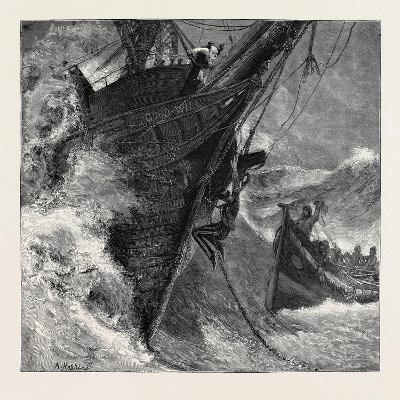 A Ship at Storm--Giclee Print
