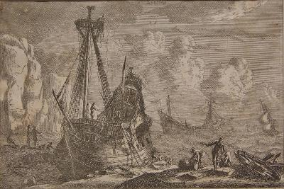 A Ship Being Repaired, from the Series 'Some Ships', 1652-Reinier Zeeman-Giclee Print