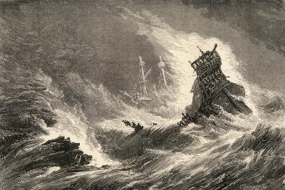 A Ship of the Spanish Armada, Wrecked on the West Coast of Ireland, Illustration from 'spanish…--Giclee Print