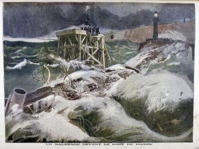 A Shipwreck in Front of the Port of Dieppe, 1899-Oswaldo Tofani-Giclee Print