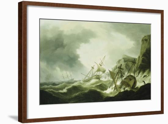 A Shipwreck-Thomas Luny-Framed Giclee Print