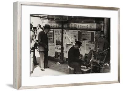A Shoeshine Man on a Street in Rome-Luigi Leoni-Framed Photographic Print