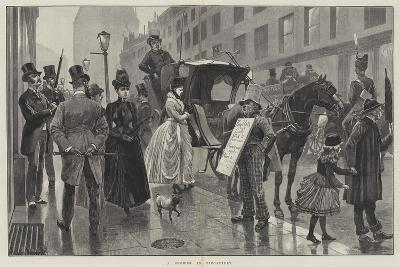 A Shower in Piccadilly-Richard Caton Woodville II-Giclee Print