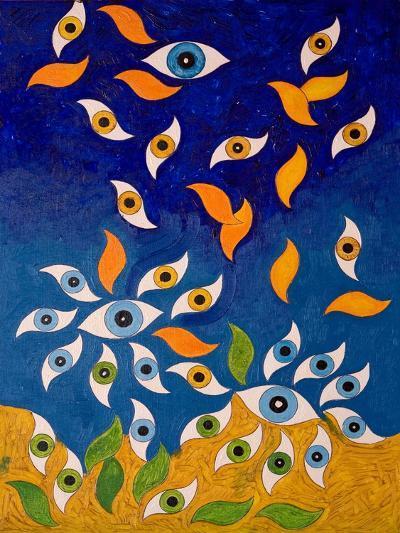 A Shower of Eyes, 2006-Jan Groneberg-Giclee Print