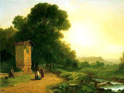 A Shrine in Italy, 1847-John Frederick Kensett-Giclee Print