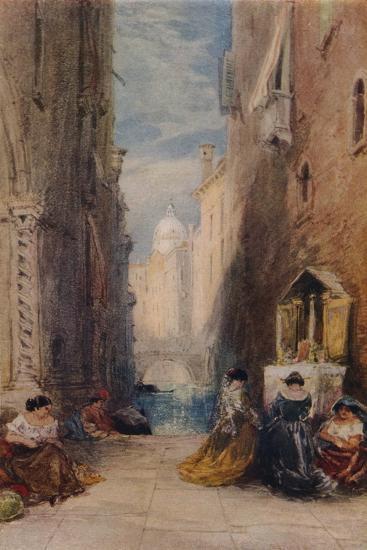 A Shrine In Venice, c1820-1870, (1924)-James Holland-Giclee Print