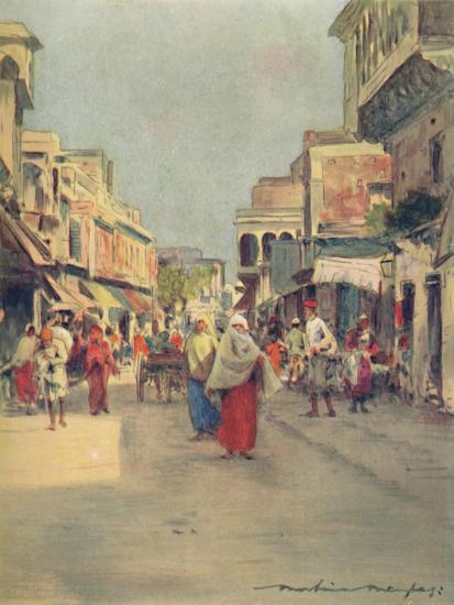 'A Side Street in Agra', 1905-Mortimer Luddington Menpes-Giclee Print