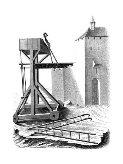 A Siege Assault Platform, 15th Century--Giclee Print