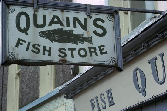 A sign in Youghal, Ireland. Artist: Unknown-Unknown-Photographic Print