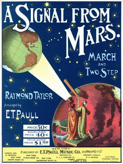 """""""A Signal from Mars"""" Sheet Music from the National Museum of American History--Art Print"""