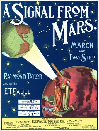 """A Signal from Mars"" Sheet Music from the National Museum of American History"