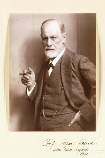 A Signed Photograph of Sigmund Freud, C.1921-Max Halberstadt-Photographic Print