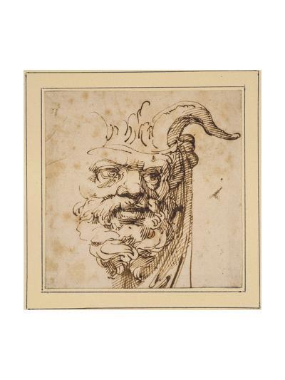 A Silvan Mask-Agostino Carracci-Giclee Print