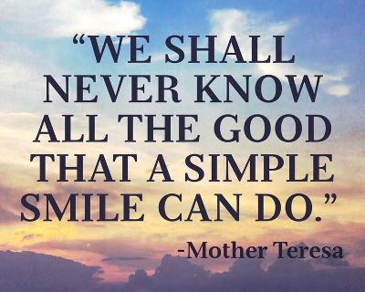 A Simple Smile-Quote Master-Art Print