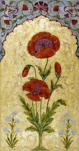 A Single Stem of Poppy Blossoms on Gold Ground, 1770-80 AD