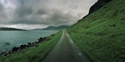 A Single Track Paved Road Along the Edge of Loch Na Keal-Macduff Everton-Photographic Print