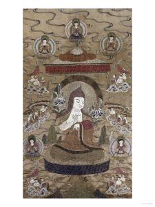 A Sino Tibetan Silk Embroidered Silk Thang.Ka Depicting Tsong.Kha.Pa, Circa 1800