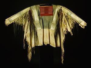 A Sioux Quilled and Fringed Hide Warrior's Shirt, Mid 19th Century
