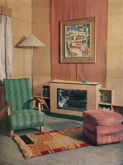'A sitting room with a painting by J.D. Fergusson above the fire', 1935-Unknown-Photographic Print