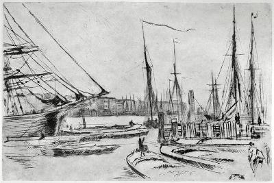 A Sketch from Billingsgate, 19th Century-James Abbott McNeill Whistler-Giclee Print