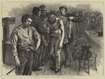 A Sketch in Newgate, the Garotter's Reward--Giclee Print