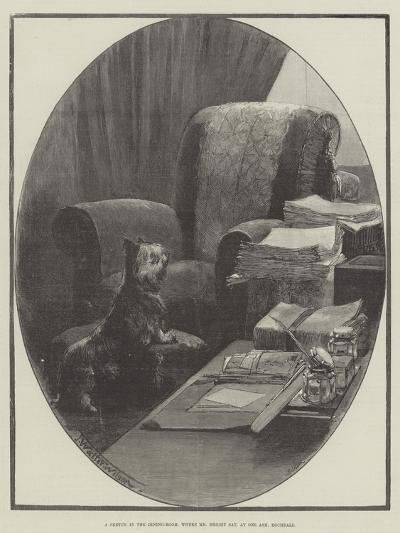 A Sketch in the Dining-Room, Where Mr Bright Sat, at One Ash, Rochdale-Thomas Walter Wilson-Giclee Print