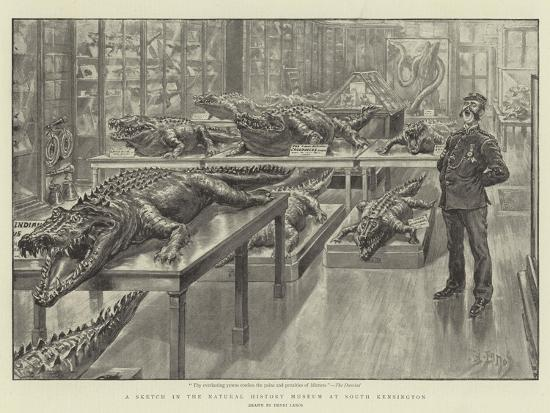 A Sketch in the Natural History Museum at South Kensington-Henri Lanos-Giclee Print