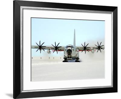 A Ski-equipped LC-130 Hercules-Stocktrek Images-Framed Photographic Print