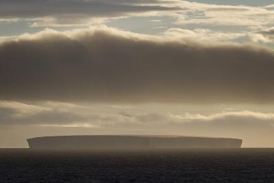 A Slab Iceberg Illuminated by Early Morning Light Near the Antarctica Peninsula-David Griffin-Photographic Print