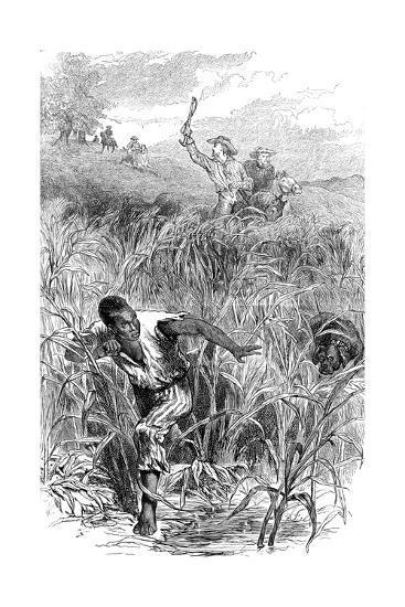 A Slave Hunt, USA, Mid 19th Century--Giclee Print