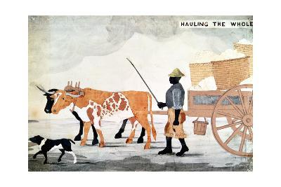 A Slave with an Ox-Cart Containing the Week's Cotton Pickings, New Orleans, Usa--Giclee Print