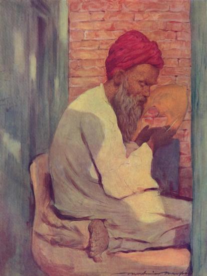 'A Slipper-maker', 1903-Mortimer L Menpes-Giclee Print