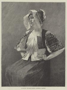 A Slovak Village Maiden, Austrian Empire