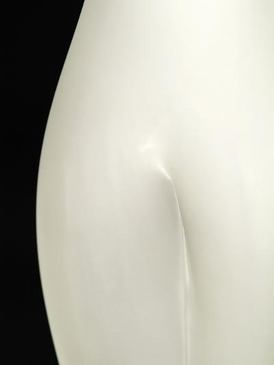 A Small Crevice Is Seen on a White Surface-David Burton-Photographic Print