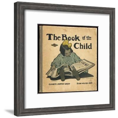 A Small Girl Reads a Big Book--Framed Giclee Print