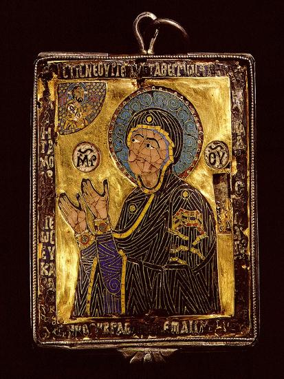 A Small Gold and Enamelled Reliquary Which Would Have Been Worn around the Neck to Protect the…--Giclee Print