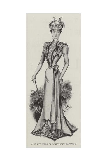 A Smart Dress of Light Soft Material--Giclee Print