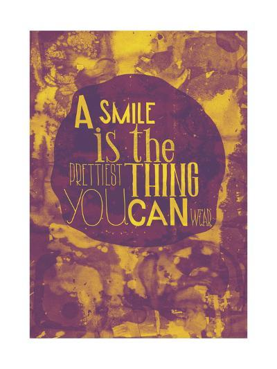 A Smile is The Prettiest Thing You Can Wear, Grunge Poster-Vanzyst-Art Print