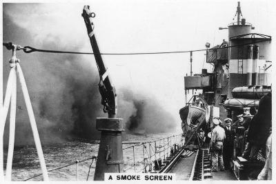 A Smoke Screen Laid Down by a Destroyer, 1937--Giclee Print